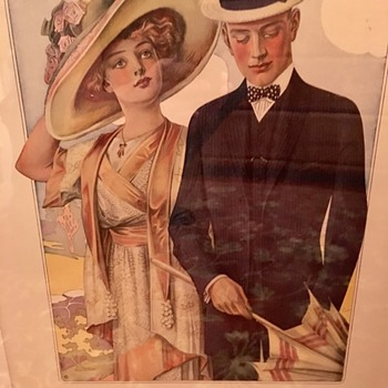 "Mens Fashion Illustration c1914 ""After"" Leyendecker? - Mens Clothing"