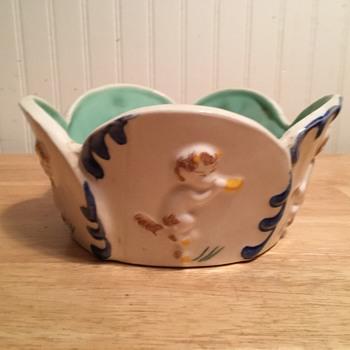 """""""Satyr Bowl"""" - Vernon Kilns - 1940 - Pottery"""