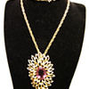 Vintage Panetta Undulating Petals Amethyst Necklace