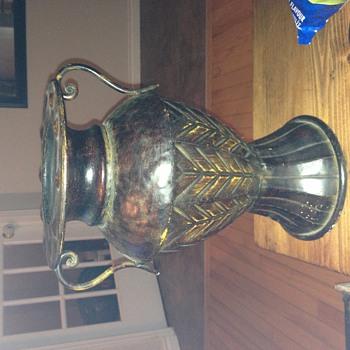 Old metal vase