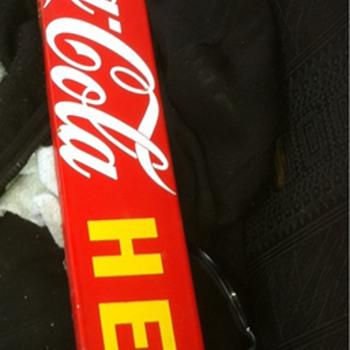 Coca cola bar. Push bar