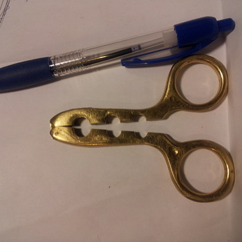 Curious Brass Scissors-like Tool - Tools and Hardware