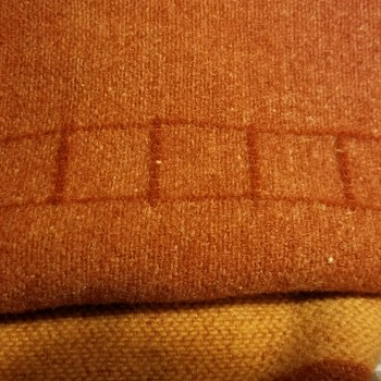 Vintage Orange Striped Blanket 5 Square - Rugs and Textiles