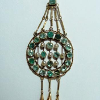 Edwardian Tourmaline Pendant - Fine Jewelry