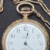 1892 waltham Riverside, model 1888, solid 14kt gold case, 2 tone movement,  near mint, RARE!!!