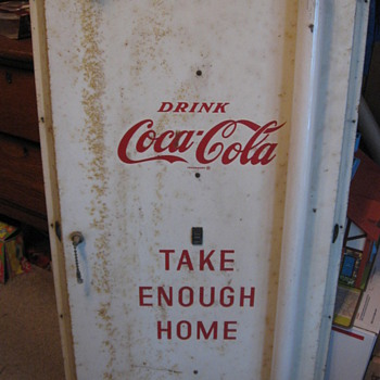 Take Enough Home Lighted Metal Coca Cola Sign - Coca-Cola