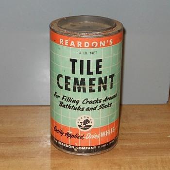 Reardon's Tile Cement 1 1/4 lb Can - Advertising