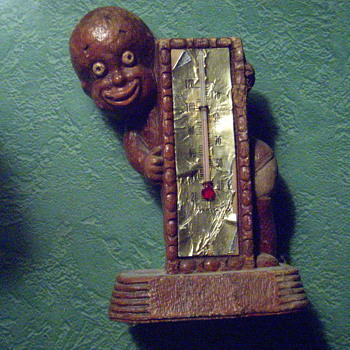 Black sambo thermometer  - Advertising