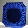 Cobalt blue glass mirror by Nurre