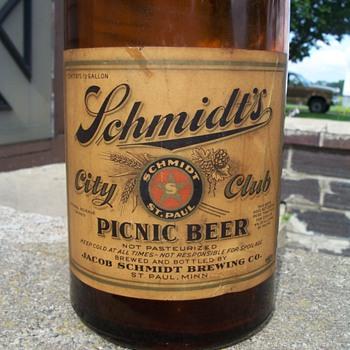 Schmidt Picnic Beer - Breweriana