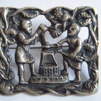 Old Pin with Blacksmiths?~Heavy, Probably brass but I'm not sure - Fine Jewelry