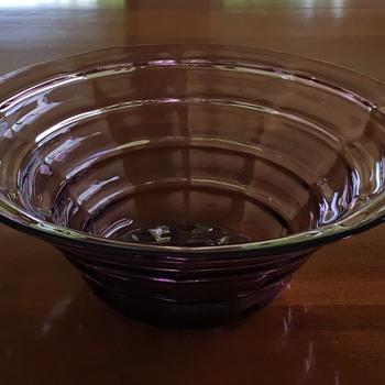 Amethyst Depression Glass Cambodia? Mandalay? - Glassware