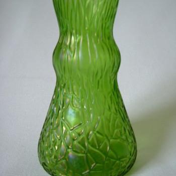 Art Nouveau Webbed Vase  - Art Glass