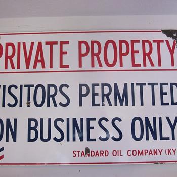 Standard Oil Of Kentucky Porcelain Sign