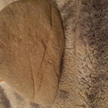Native abrading stone art works, - Native American