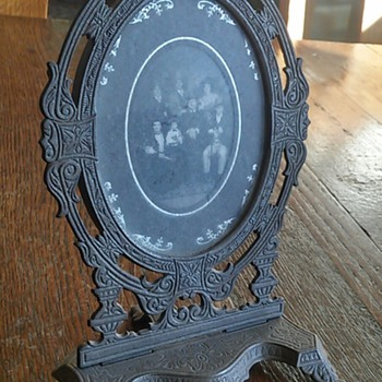 Victorian metal picture frame Patd. July 20th 1875