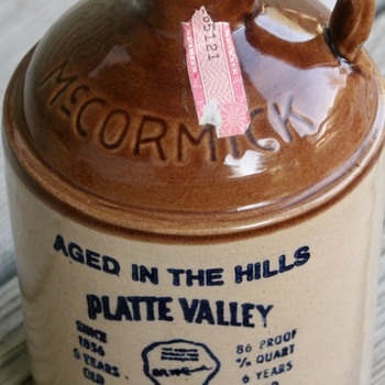 1976 Platte Valley Corn Whiskey McCormick Stoneware Decanter  - Bottles
