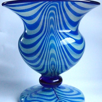 A Few More Blue Loetz Pieces - Art Glass