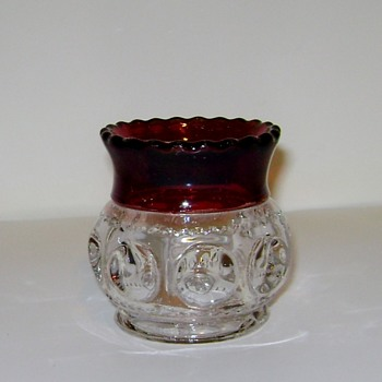 George Duncan Sons & Co. - Adams Co. Ruby Stained Toothpick Holder - Glassware