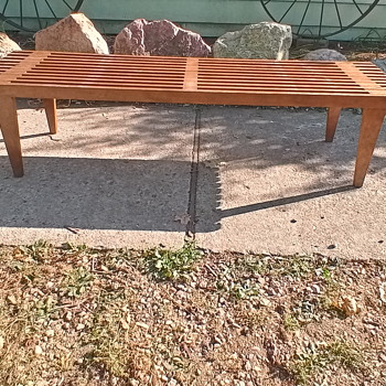 Wood slat bench  - Furniture