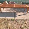 Wood slat bench