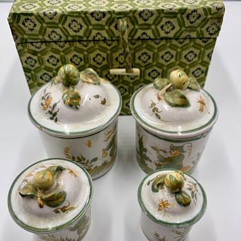 4 Lidded Pottery Jars - China and Dinnerware