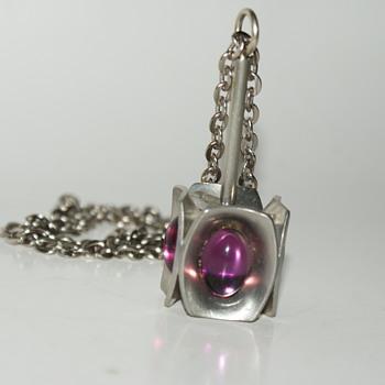 Jorgen Jensen Pewter Necklace - Fine Jewelry
