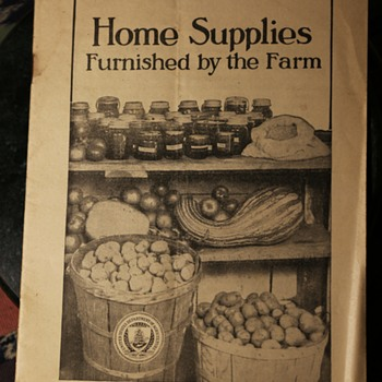 1920 Home Supplies Furnished by the Farm