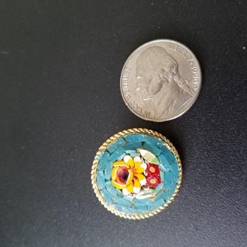 Italian micro mosaic brooch - Fine Jewelry