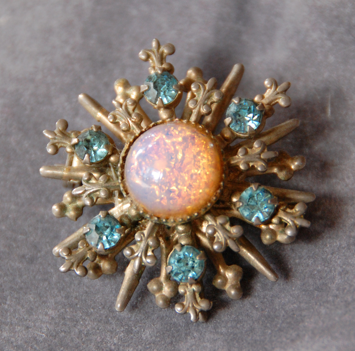 crescent brooch victorian antique shop gold the diamond opal