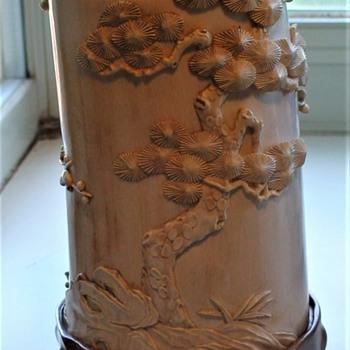 Antique Ivory Asian Brush Holder - Asian