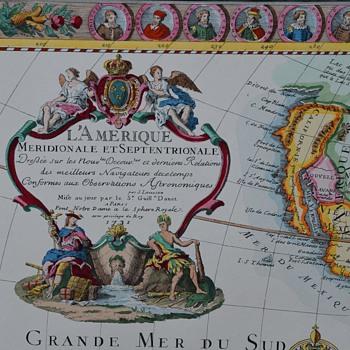 L'Amerique Meridionale et Septentrionale - 1731 - Paper