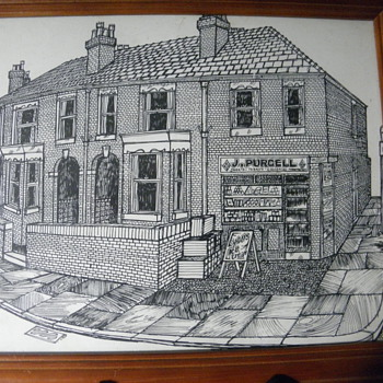 Pen and Ink Drawing - Fine Art