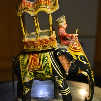 Carved and Painted Wooden Howdah