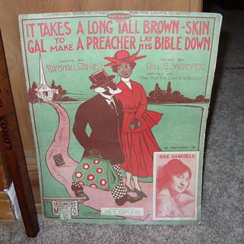 1917 black sheet music - Music Memorabilia