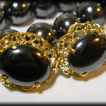 Jewelry Set ~ Hematite ~ ( Alaska Black Diamond )  - Costume Jewelry