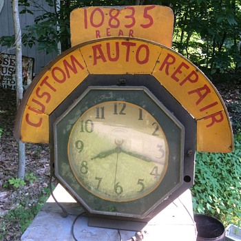 Today's Picks! Neon clock and Buddy L ridem truck. - Clocks