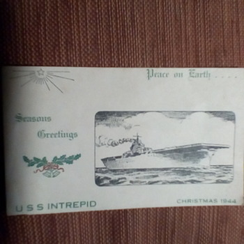 WW2 CHRISTMAS CARD - Military and Wartime