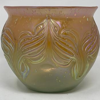 Loetz Phänomen Genre Vase, Neurot m. maigrün verlaufend, PN unknown, ca. 1901 - Art Glass