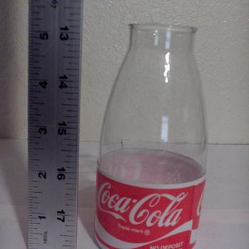 weird glass and plastic coke bottle (prototype?) - Coca-Cola