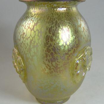 """Loetz Candia Papillon """"Butterflies"""" vase from 1920s - Art Glass"""
