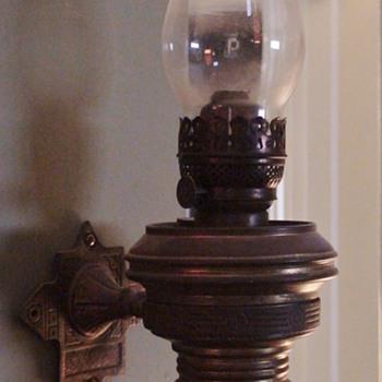 Adams Westlake Adlake Train Caboose Wall Kerosene Lamp 1930s