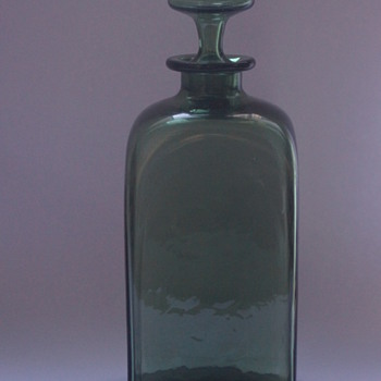 Whitefriars Green Decanter - Art Glass