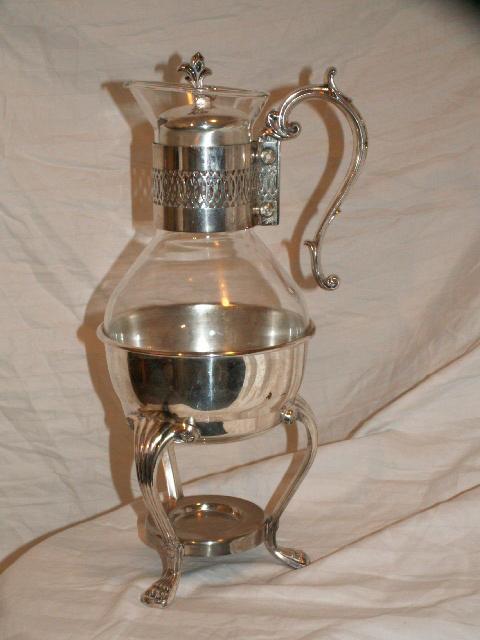 Vintage F.B. Rogers Silver Coffee Carafe W/ Warmer Stand ...