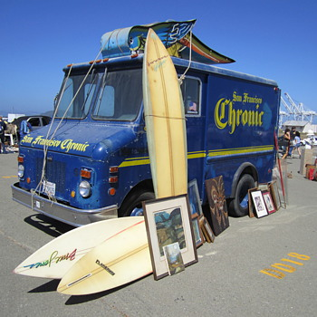 """San Francisco Chronic"" Delivery Truck at Alameda - Advertising"