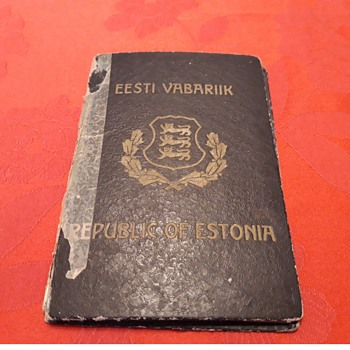 Ca. 1948-52 Estonian Government in Exile Temporary Passport for Immigration to Sweden for Ex-Kreigsmarine Officer - Paper