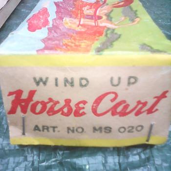 My wind up horse cart