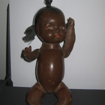 Vintage composition Black Americana baby doll