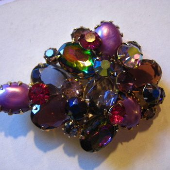 Shades of Purple Brooch - Costume Jewelry