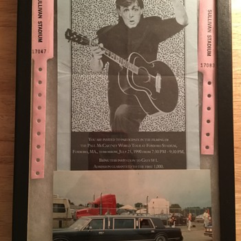 Paul McCartney filming-July 25, 1990 - Music Memorabilia